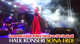 Ermenek Taşeli Kültür Sanat ve Sıla Festivali halk konseri ile sona erdi