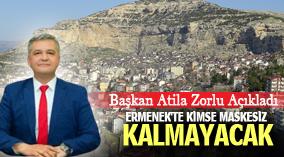 ERMENEK'TE KİMSE MASKESİZ KALMAYACAK