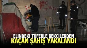 Karaman'da elindeki tüfekle bekçilerden kaçan şahıs, kovalamaca sonucu yakalandı