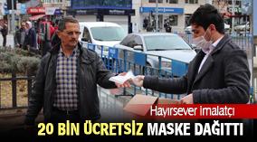 Karaman'da hayırsever imalatçı 20 bin adet ücretsiz maske dağıttı