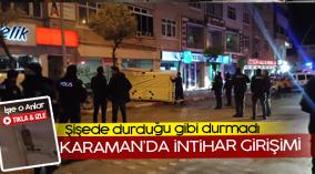 Karaman'da intihar girişimi