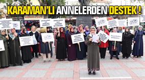 Karamanlı annelerden HDP binası önünde bekleyen annelere destek