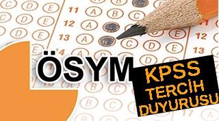 KPSS'DEN TERCİH DUYURUSU