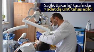 Sağlık Bakanlığı tarafından 7 adet diş üniti tahsis edildi