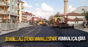 ZEMBİLLİ ALİ EFENDİ MAHALLESİ'NDE HUMMALI ÇALIŞMA
