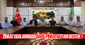 Ziraat Odalarından Barış Pınarı'na tam destek