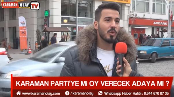 KARAMAN KIRMIZI MİKROFONA KONUŞUYOR !